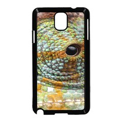 Macro Of The Eye Of A Chameleon Samsung Galaxy Note 3 Neo Hardshell Case (Black)