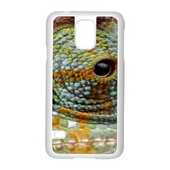 Macro Of The Eye Of A Chameleon Samsung Galaxy S5 Case (White)