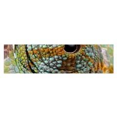 Macro Of The Eye Of A Chameleon Satin Scarf (Oblong)