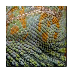 Macro Of Chameleon Skin Texture Background Tile Coasters