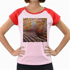 Macro Of Chameleon Skin Texture Background Women s Cap Sleeve T Shirt
