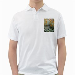 Macro Of Chameleon Skin Texture Background Golf Shirts