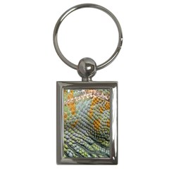 Macro Of Chameleon Skin Texture Background Key Chains (Rectangle)