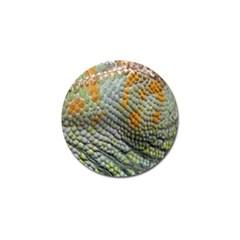 Macro Of Chameleon Skin Texture Background Golf Ball Marker