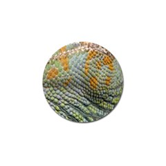 Macro Of Chameleon Skin Texture Background Golf Ball Marker (10 pack)