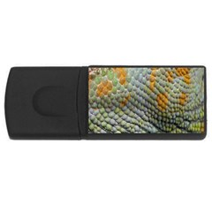 Macro Of Chameleon Skin Texture Background USB Flash Drive Rectangular (4 GB)