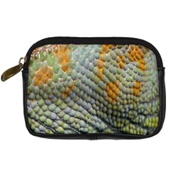 Macro Of Chameleon Skin Texture Background Digital Camera Cases