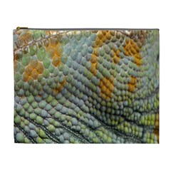 Macro Of Chameleon Skin Texture Background Cosmetic Bag (xl)