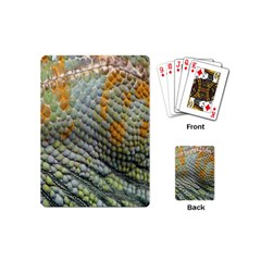 Macro Of Chameleon Skin Texture Background Playing Cards (mini)