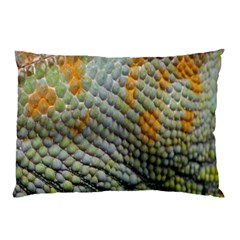 Macro Of Chameleon Skin Texture Background Pillow Case (Two Sides)
