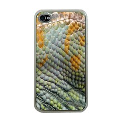 Macro Of Chameleon Skin Texture Background Apple Iphone 4 Case (clear)