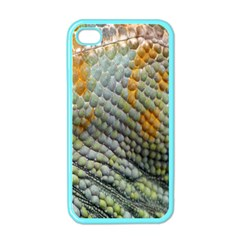 Macro Of Chameleon Skin Texture Background Apple Iphone 4 Case (color)