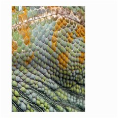 Macro Of Chameleon Skin Texture Background Small Garden Flag (Two Sides)