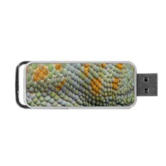 Macro Of Chameleon Skin Texture Background Portable USB Flash (One Side)