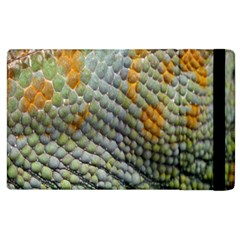 Macro Of Chameleon Skin Texture Background Apple iPad 2 Flip Case