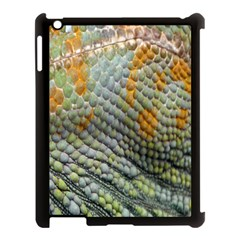 Macro Of Chameleon Skin Texture Background Apple iPad 3/4 Case (Black)