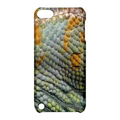 Macro Of Chameleon Skin Texture Background Apple Ipod Touch 5 Hardshell Case With Stand
