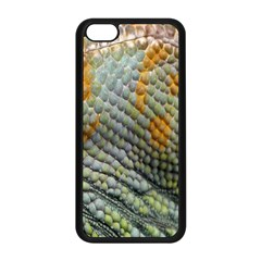 Macro Of Chameleon Skin Texture Background Apple iPhone 5C Seamless Case (Black)