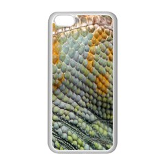 Macro Of Chameleon Skin Texture Background Apple iPhone 5C Seamless Case (White)