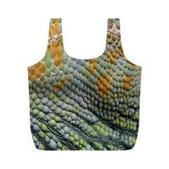 Macro Of Chameleon Skin Texture Background Full Print Recycle Bags (M)
