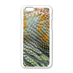 Macro Of Chameleon Skin Texture Background Apple iPhone 6/6S White Enamel Case