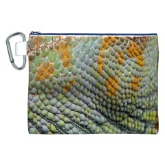 Macro Of Chameleon Skin Texture Background Canvas Cosmetic Bag (xxl)