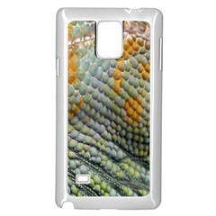 Macro Of Chameleon Skin Texture Background Samsung Galaxy Note 4 Case (White)
