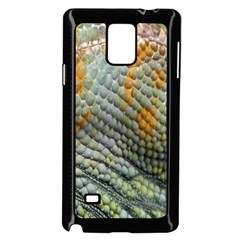 Macro Of Chameleon Skin Texture Background Samsung Galaxy Note 4 Case (Black)
