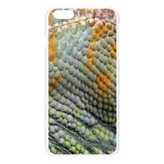 Macro Of Chameleon Skin Texture Background Apple Seamless iPhone 6 Plus/6S Plus Case (Transparent)