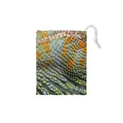 Macro Of Chameleon Skin Texture Background Drawstring Pouches (xs)