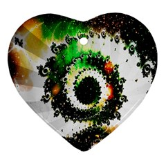 Fractal Universe Computer Graphic Ornament (heart)