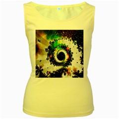 Fractal Universe Computer Graphic Women s Yellow Tank Top