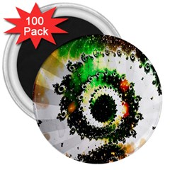 Fractal Universe Computer Graphic 3  Magnets (100 Pack)