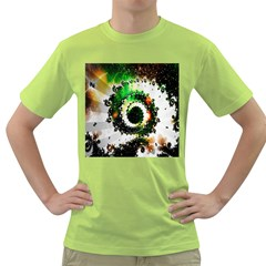 Fractal Universe Computer Graphic Green T Shirt
