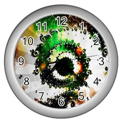 Fractal Universe Computer Graphic Wall Clocks (Silver)
