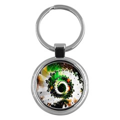 Fractal Universe Computer Graphic Key Chains (round)