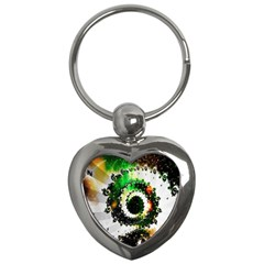 Fractal Universe Computer Graphic Key Chains (heart)