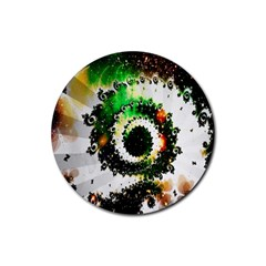 Fractal Universe Computer Graphic Rubber Coaster (Round)
