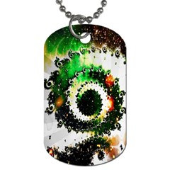Fractal Universe Computer Graphic Dog Tag (two Sides)