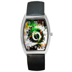 Fractal Universe Computer Graphic Barrel Style Metal Watch