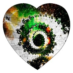 Fractal Universe Computer Graphic Jigsaw Puzzle (Heart)