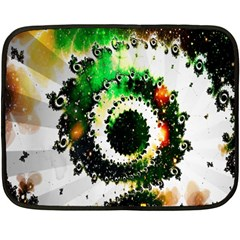 Fractal Universe Computer Graphic Fleece Blanket (mini)