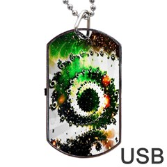 Fractal Universe Computer Graphic Dog Tag Usb Flash (one Side)
