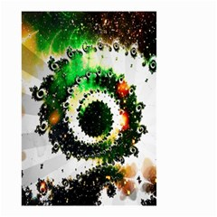 Fractal Universe Computer Graphic Small Garden Flag (Two Sides)