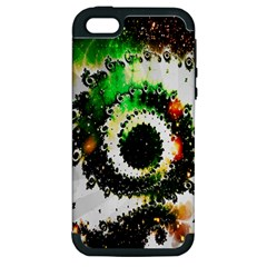 Fractal Universe Computer Graphic Apple iPhone 5 Hardshell Case (PC+Silicone)