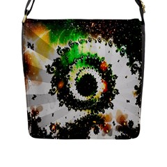 Fractal Universe Computer Graphic Flap Messenger Bag (L)