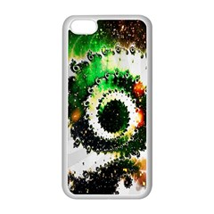 Fractal Universe Computer Graphic Apple iPhone 5C Seamless Case (White)