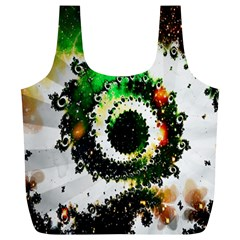 Fractal Universe Computer Graphic Full Print Recycle Bags (L)