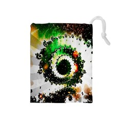 Fractal Universe Computer Graphic Drawstring Pouches (Medium)