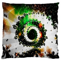 Fractal Universe Computer Graphic Large Flano Cushion Case (One Side)